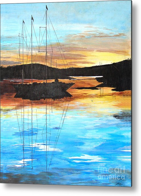 Sailing Metal Print featuring the photograph Smooth Sailing 1 by Devane Mattoni