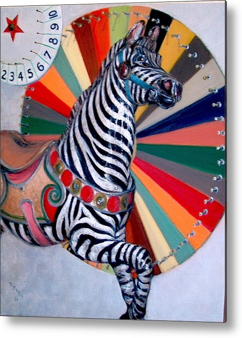 Realism Metal Print featuring the painting Stripes by Donelli DiMaria