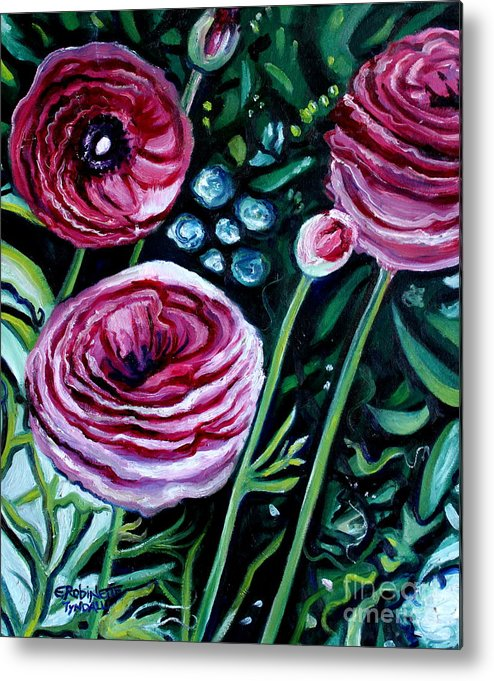 Garden Metal Print featuring the painting Sweet Delight by Elizabeth Robinette Tyndall