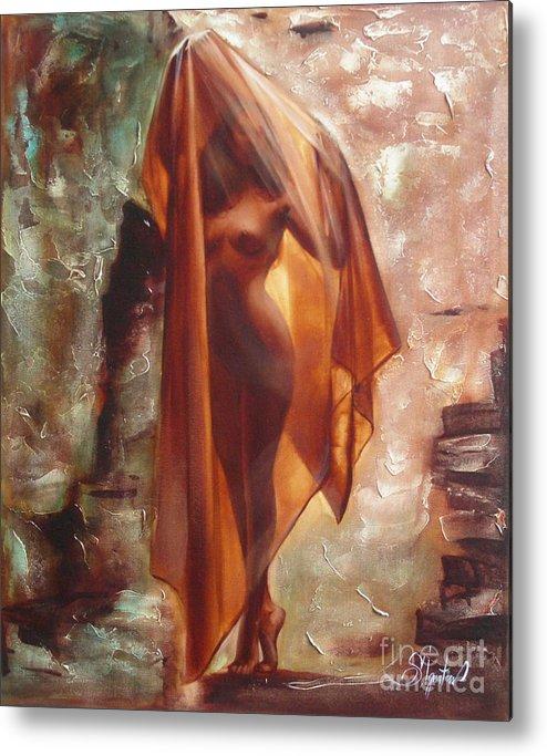 Ignatenko Metal Print featuring the painting The Garden Of Stones by Sergey Ignatenko