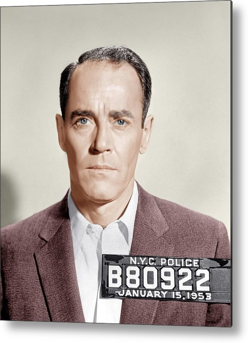 1950s Portraits Metal Print featuring the photograph The Wrong Man, Henry Fonda, 1956 by Everett