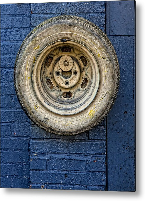 Still Life Metal Print featuring the photograph Tire Midwood Brooklyn by Robert Ullmann