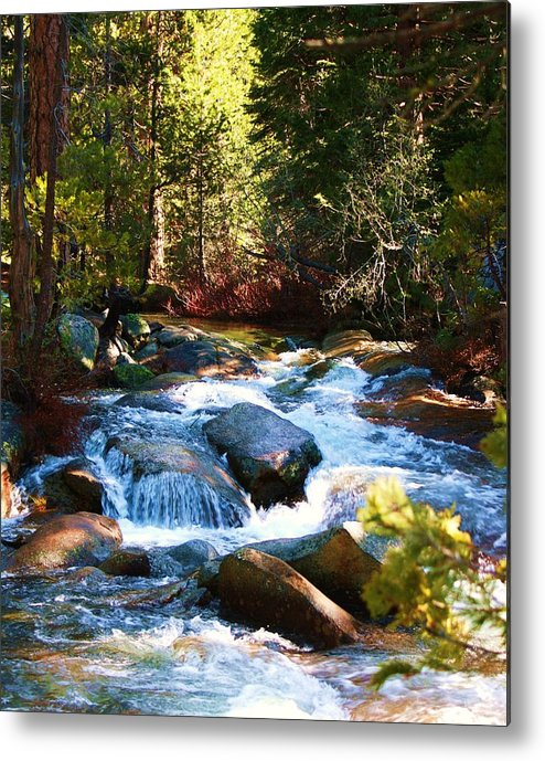 Landscapes Metal Print featuring the photograph Twin Bridges Cascades by Russell Barton
