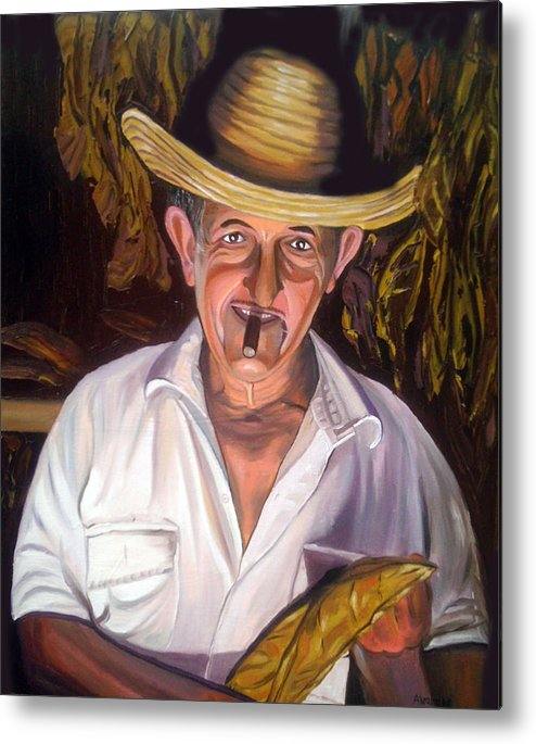 Cuban Art Metal Print featuring the painting Uncle Frank by Jose Manuel Abraham