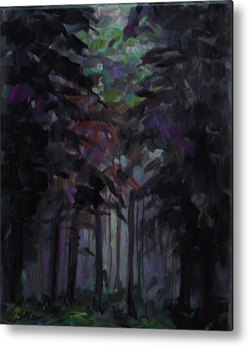 Forest Metal Print featuring the painting Unless by Susan Moore