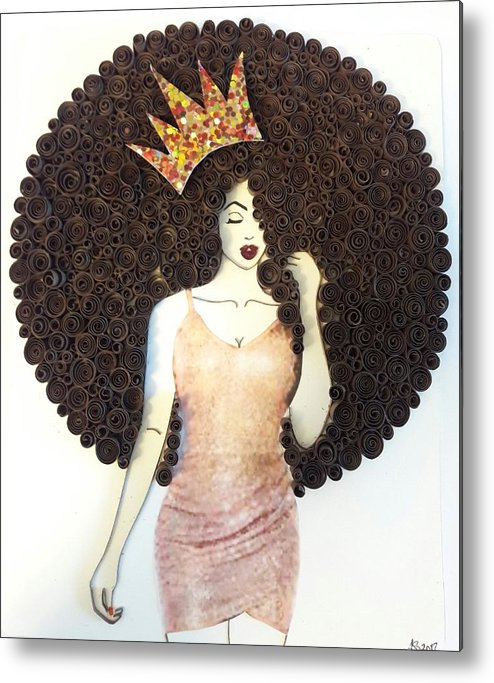 Metal Print featuring the mixed media Valencia by Quillqueen Andrea Stevens