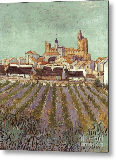 1888 Metal Print featuring the photograph Van Gogh: Saintes-maries by Granger