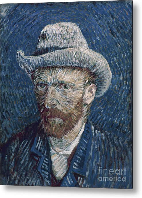 1887 Metal Print featuring the photograph Van Gogh: Self-portrait by Granger