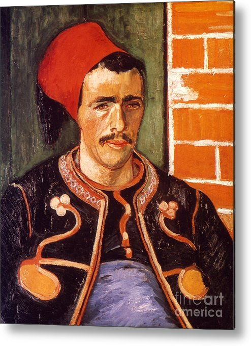 1888 Metal Print featuring the photograph Van Gogh: The Zouave, 1888 by Granger