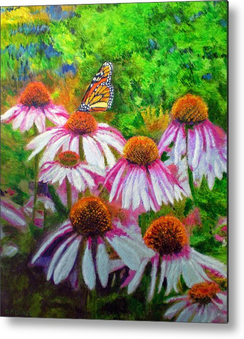 Butterfly Metal Print featuring the painting Welcomed Visitor by Michael Durst