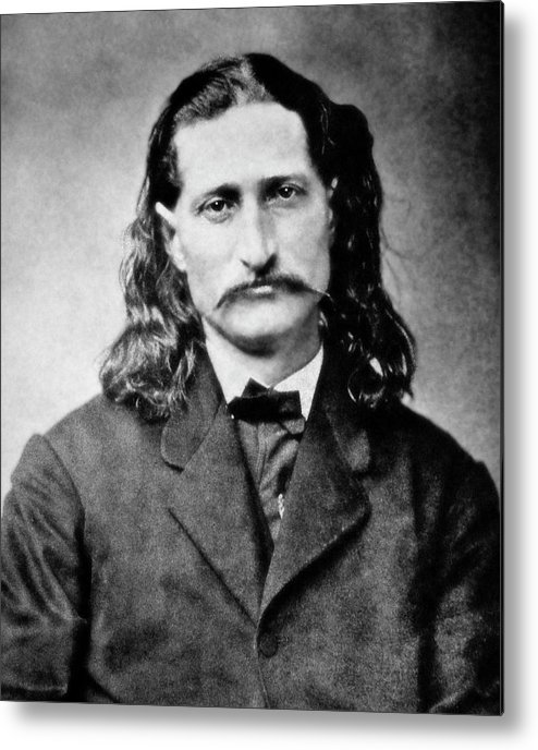 wild Bill Metal Print featuring the photograph Wild Bill Hickok - American Gunfighter Legend by Daniel Hagerman