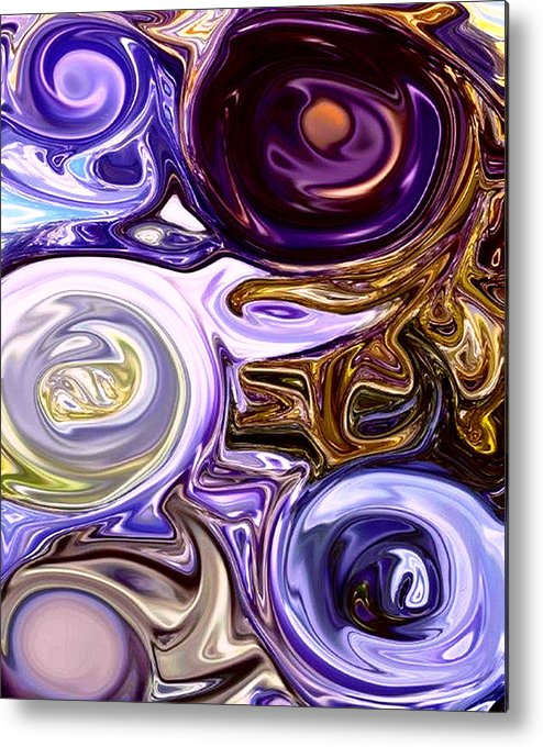 Abstract Metal Print featuring the photograph Wisteria Swirls by Linnea Tober