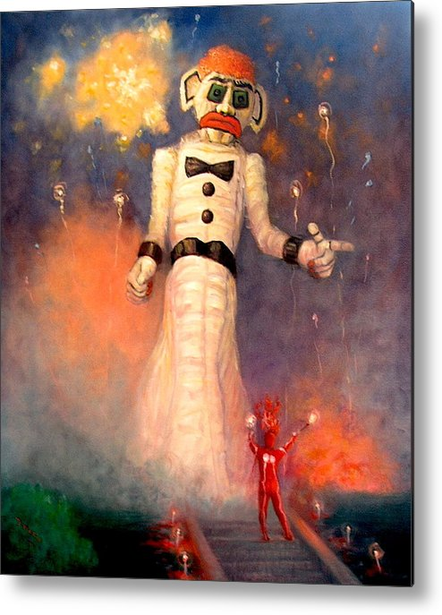Realism Metal Print featuring the painting Zo-zobra by Donelli DiMaria
