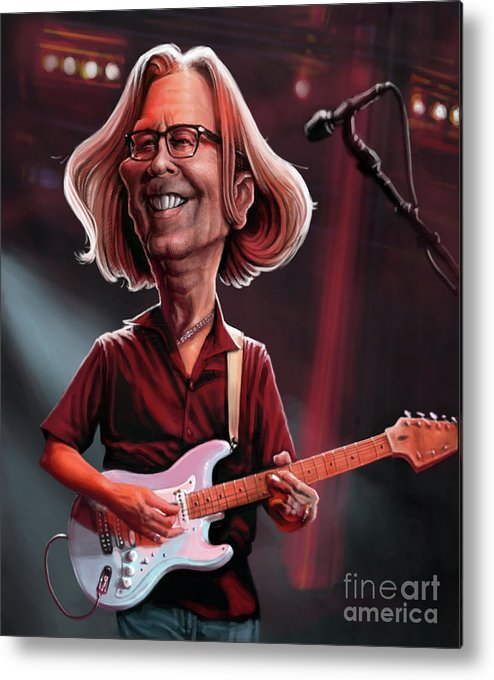 Eric Clapton Metal Print featuring the digital art Eric Clapton by Andre Koekemoer