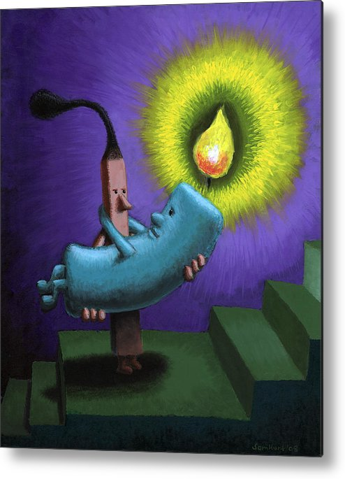 Candle Metal Print featuring the painting Hope by Sam Hurt