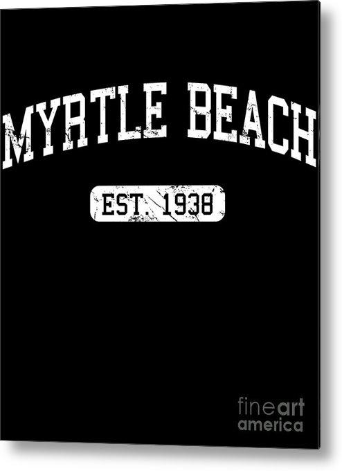 Cool Metal Print featuring the digital art Myrtle Beach by Flippin Sweet Gear