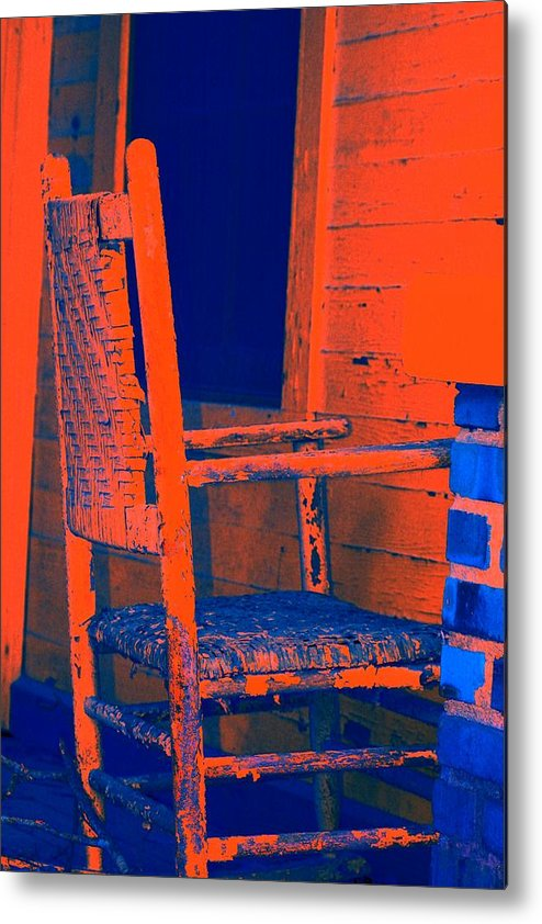 Chair Metal Print featuring the digital art Rocking Chair by Lisa Johnston