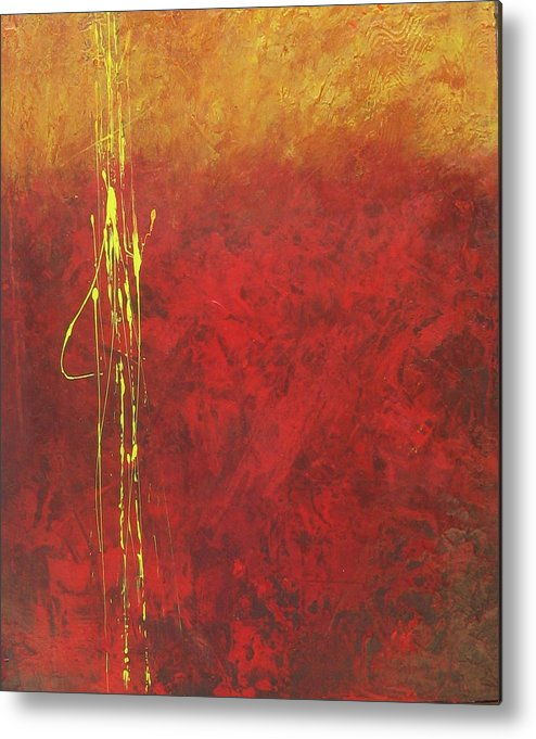 Painting Metal Print featuring the painting Miner's Gold by Carrie Allbritton