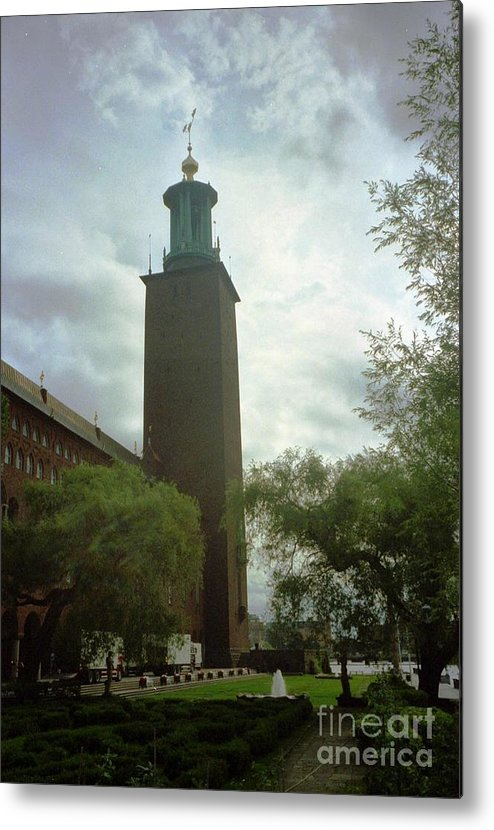 Sweden Metal Print featuring the photograph Stockholm Nobel Building by Ted Pollard