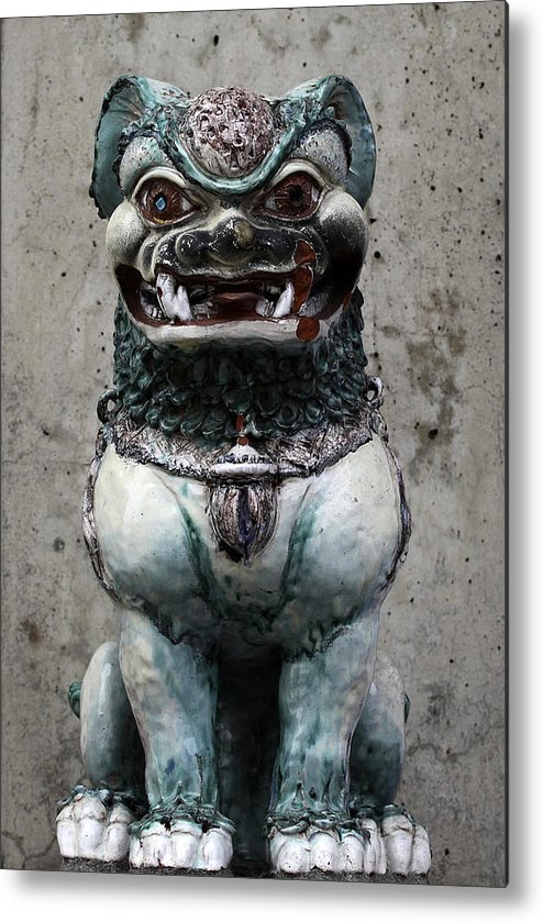 China Town Metal Print featuring the photograph Statue by Brad Maroney