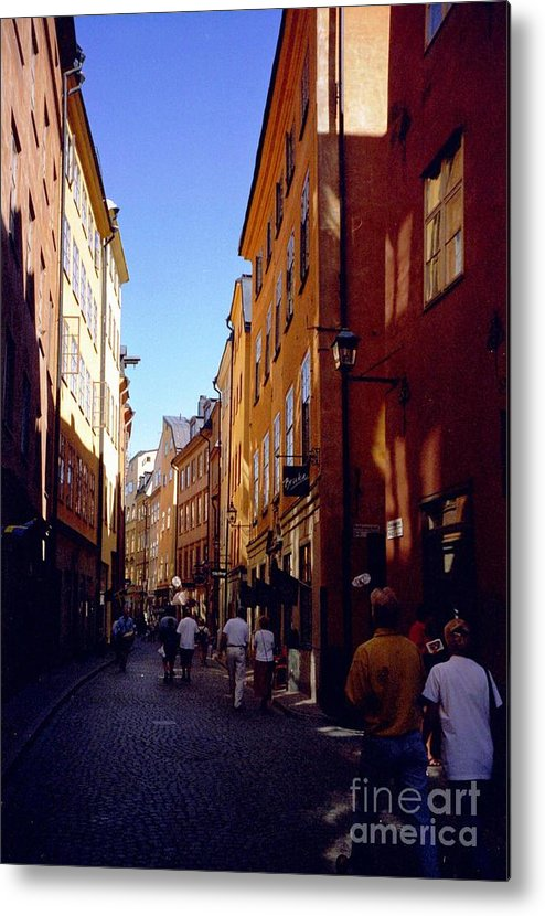 Sweden Metal Print featuring the photograph Stockholm City Old Town by Ted Pollard