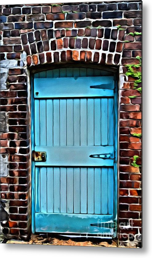 Door Metal Print featuring the photograph 9169 by Charles Cunningham
