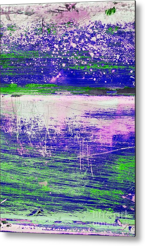 Abstract Metal Print featuring the mixed media Aa3 1 Paint Textures Abstract Collage by Brian Raggatt