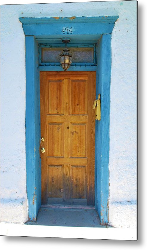 Historic Metal Print featuring the photograph Adobe House Door by Richard Jenkins