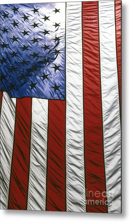 American Metal Print featuring the photograph American Flag by Tony Cordoza