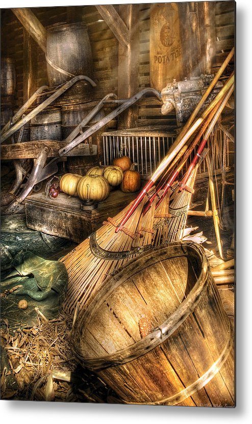 Savad Metal Print featuring the photograph Autumn - This Years Harvest by Mike Savad