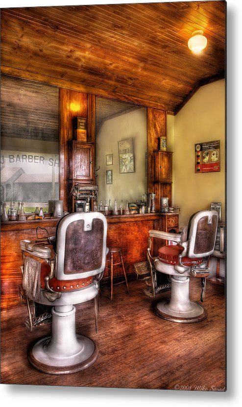 Barber Metal Print featuring the photograph Barber - The Barber Shop II by Mike Savad