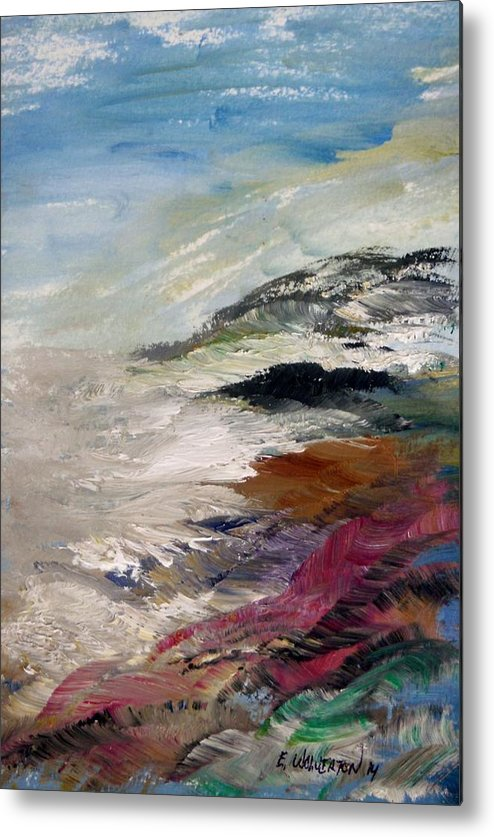 Sea Metal Print featuring the painting Big Sur by Edward Wolverton