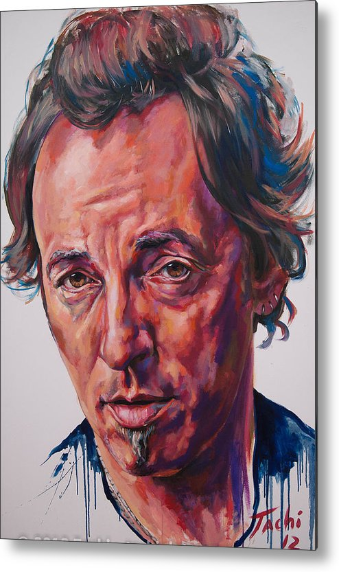Bruce Metal Print featuring the painting Bruce by Tachi Pintor