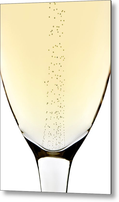 Detail Metal Print featuring the photograph Bubbles In Champagne by Johan Swanepoel
