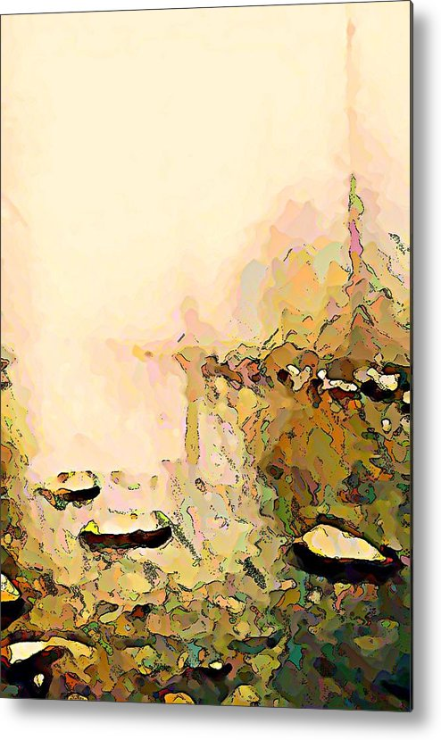 Fog Metal Print featuring the photograph Calm River Foggy Day by Stanley Funk