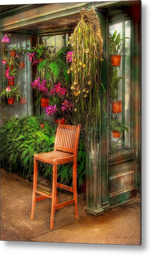 Seat Metal Print featuring the photograph Chair - The Chair by Mike Savad