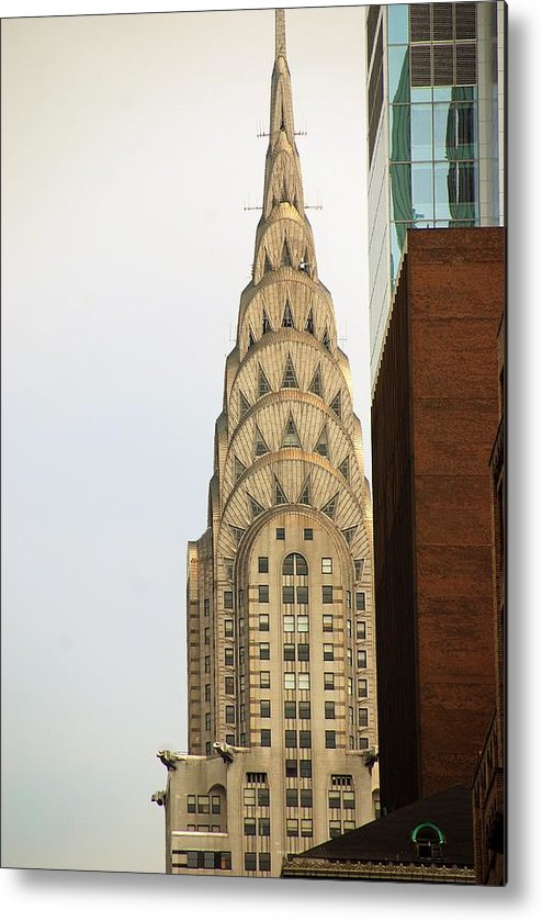 Buildings Metal Print featuring the photograph Chrysler Building by John Schneider
