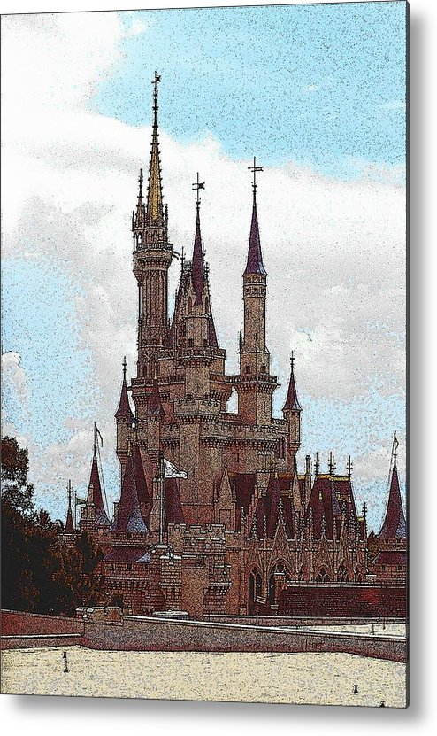 Architecture Metal Print featuring the photograph Cindies Castle by John Schneider