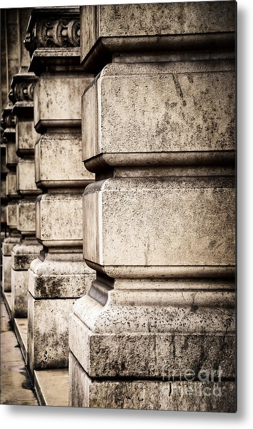 Column Metal Print featuring the photograph Columns by Elena Elisseeva