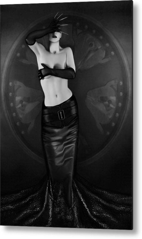 Erotic Metal Print featuring the photograph Emotional Blindness - Self Portrait by Jaeda DeWalt