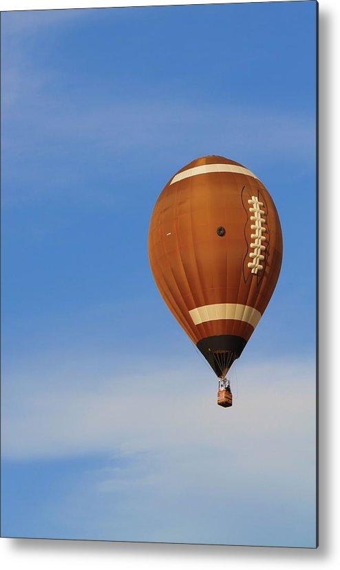 Hot Air Balloon Photograph Metal Print featuring the photograph Football Season by Dan Sproul