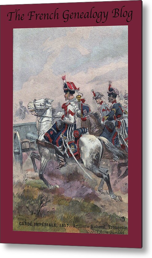 France Metal Print featuring the photograph Garde Imperiale 1857 With Fgb Border by A Morddel