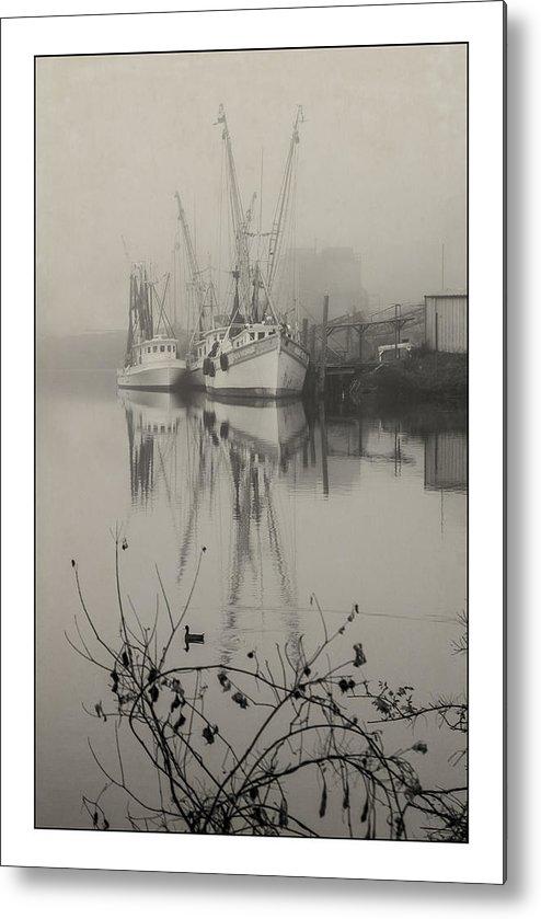 2011 Metal Print featuring the photograph Harbor Fog No.4 by Alan Sherlock