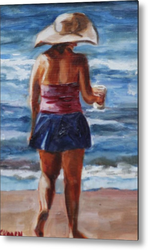 Beach Metal Print featuring the painting Hotty With A Toddy by Jennifer Koach