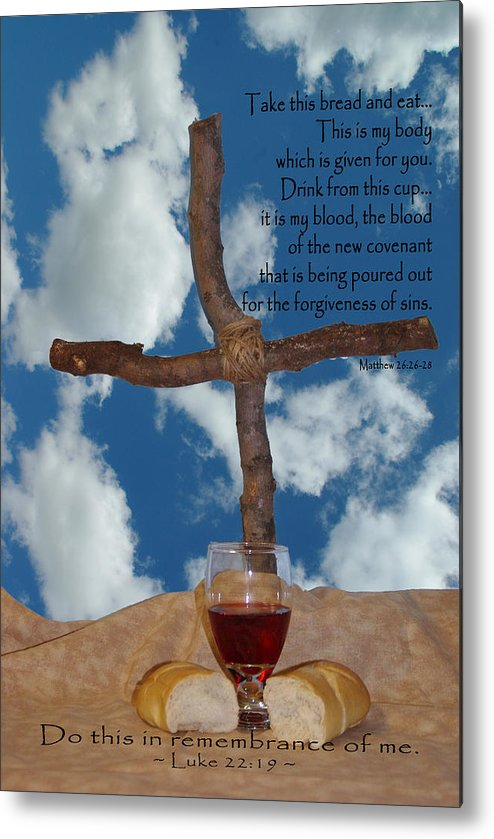 Jesus Metal Print featuring the photograph In Remembrance Of Me 1 by Robyn Stacey
