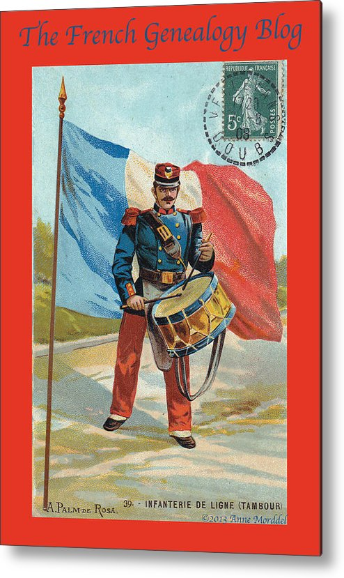France Metal Print featuring the photograph Infantry Of The Line Drummer With Fgb Border by A Morddel
