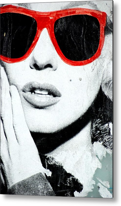 Marilyn Monroe Metal Print featuring the photograph Marilyn In Shades by Marc Levine