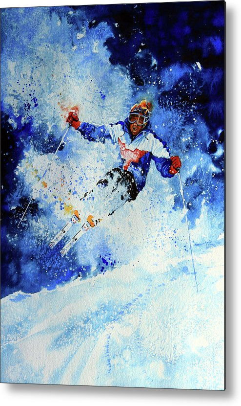 Artist Metal Print featuring the painting Mogul Mania by Hanne Lore Koehler