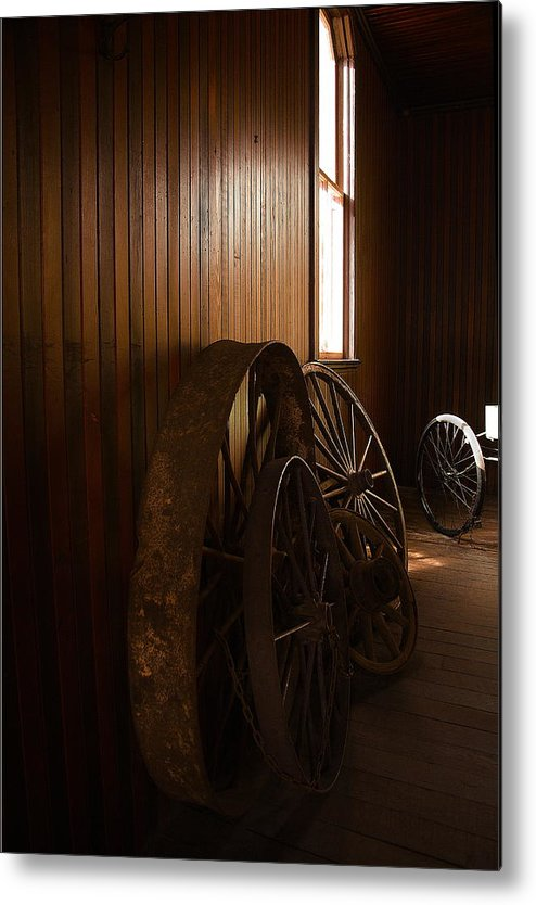 Horseless Metal Print featuring the photograph Old Wheels by Viktor Savchenko