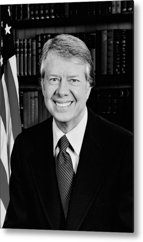 Jimmy Carter Metal Print featuring the photograph President Jimmy Carter by War Is Hell Store